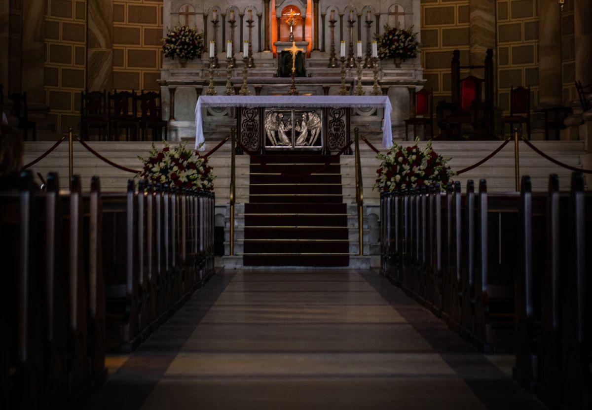 El altar anterior fue retirado.