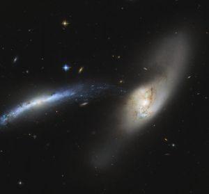El telescopio espacial Hubble captura una cascada galáctica