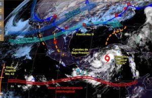 Tormenta tropical Zeta avanza con fuerza a Quintana Roo y Yucatán, emiten alerta