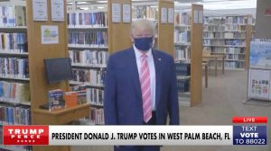 El presidente Donald Trump vota en West Palm Beach
