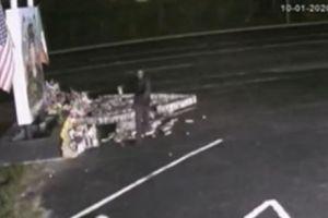 Una terrible maldad: Video capta momento que vandalizan un altar dedicado a Vanessa Guillén en Fort Hood
