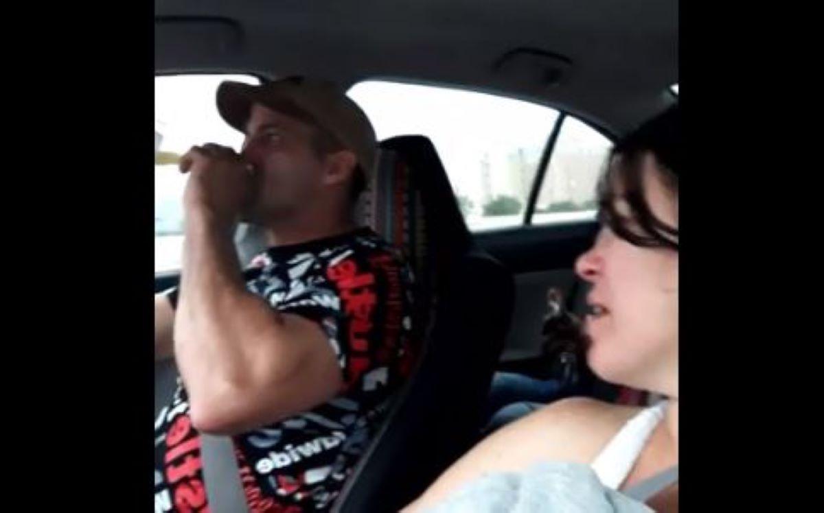 Captura del video en Facebook momentos antes del choque mortal.