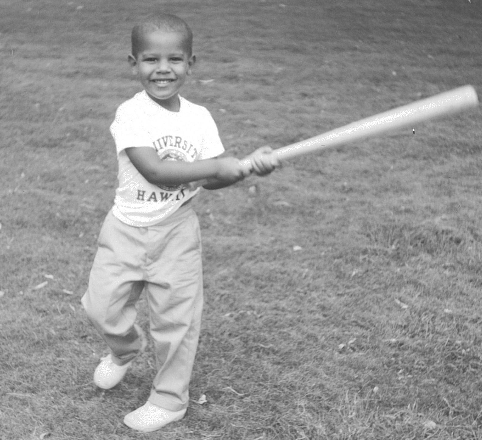 Barack Obama de niño.