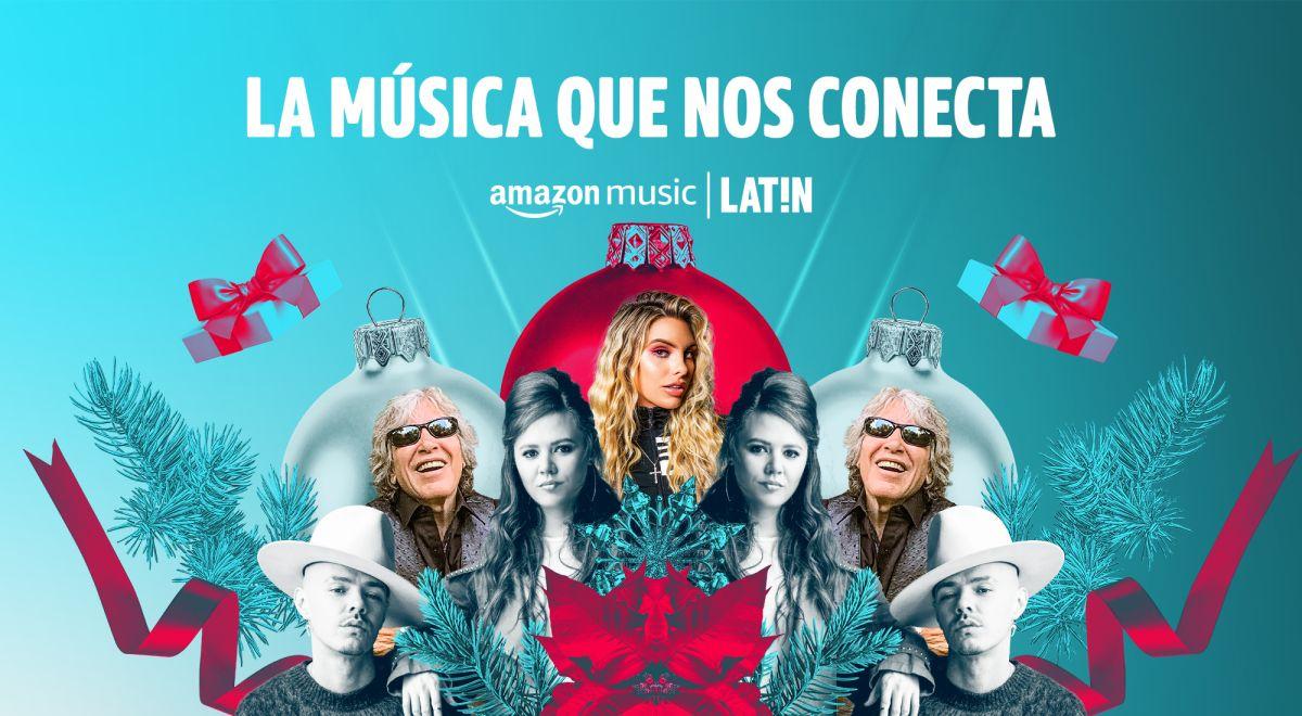 Amazon Music LAT!N celebra las fiestas con nuevas canciones de José Feliciano, Lele Pons y Jesse and Joy, entre otros