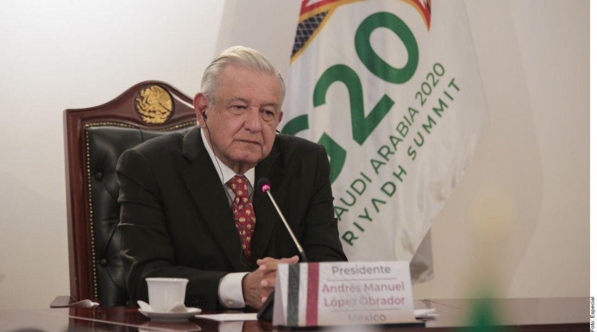 Quitar deuda a países pobres, propone AMLO a líderes del G20