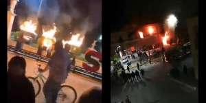 VIDEO: Prenden fuego a alcaldía de Fresnillo Zacatecas México, tras secuestro y asesinato de niña de 12 años