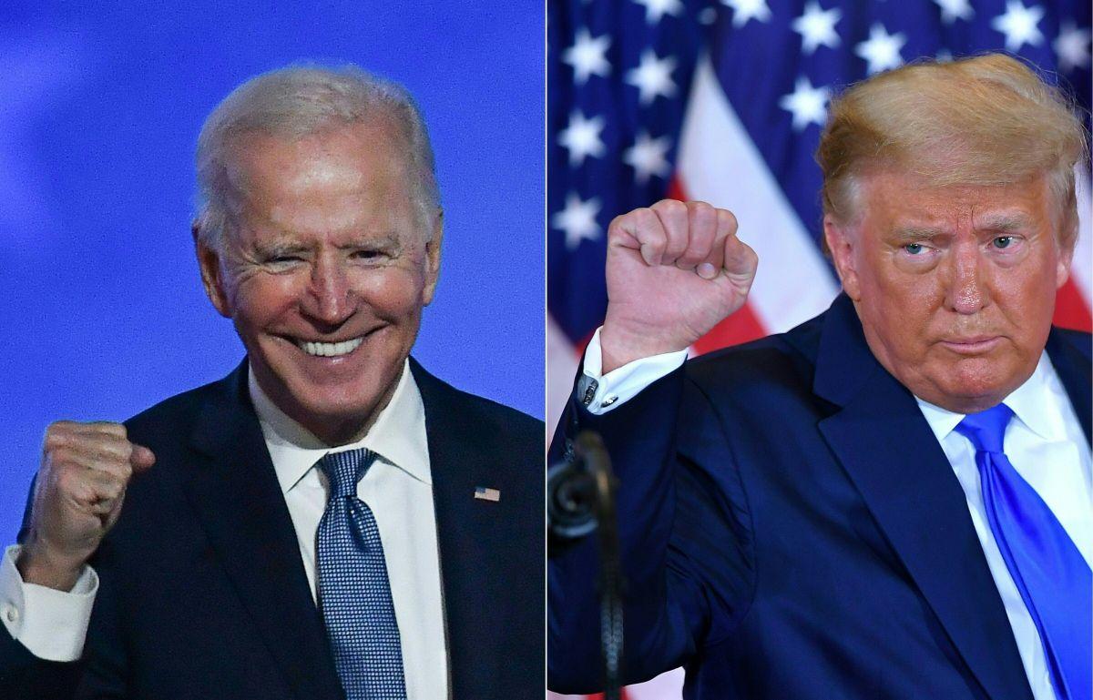 El presidente electo Joe Biden y el presidente Donald Trump.