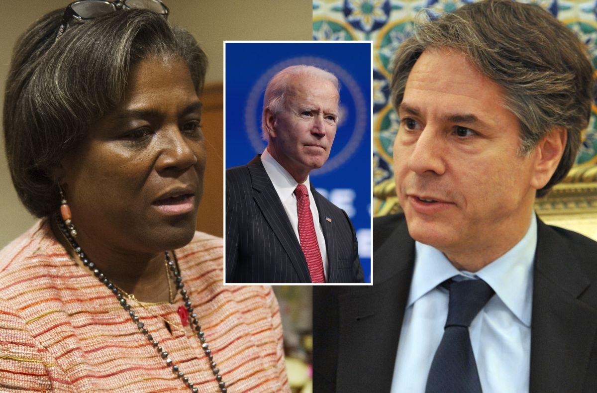 Linda Thomas-Greenfield será embajadora en la ONU y Anthony Blinken, secretario de Estado.