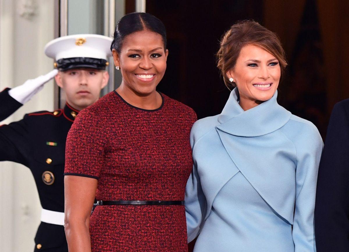 Michelle Obama y Melania Trump en 2017.