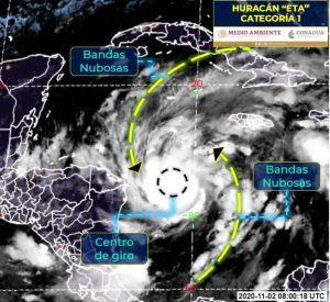 El huracán Eta se fortalece en el Caribe, se aproxima a Nicaragua
