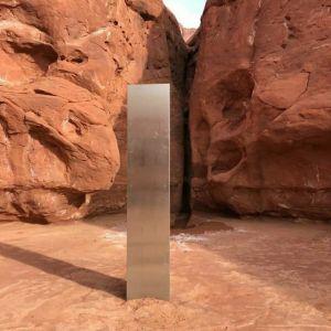 El misterioso monolito de metal que hallaron casualmente en una remota región de Utah