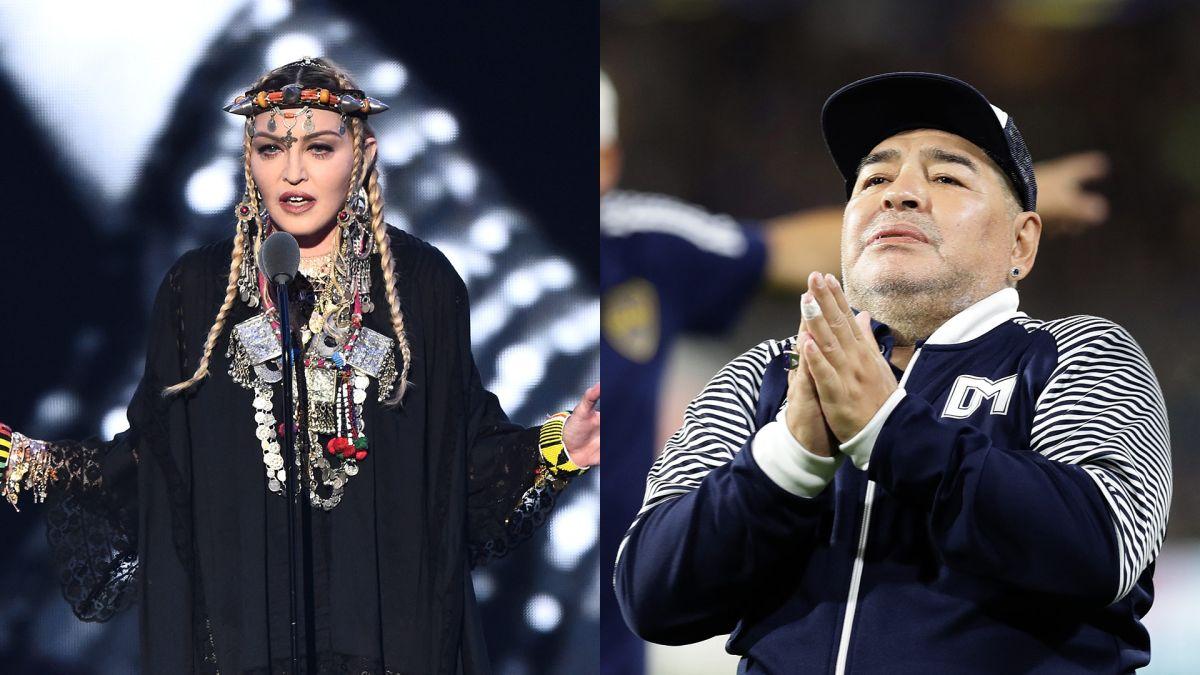 Confunden a Maradona con Madonna y se desatan los memes