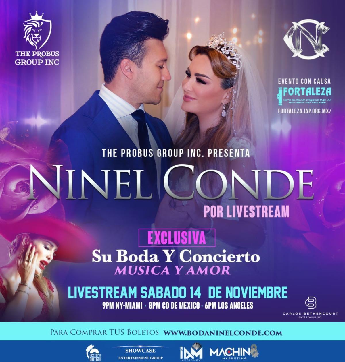 Detalles de la boda virtual de Ninel Conde