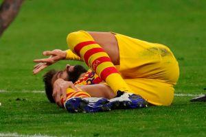 VIDEO: La aparatosa lesión de Gerard Piqué que no se ve nada bien