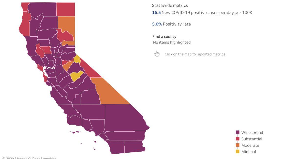 El coronavirus vuelve con fuerza a California.