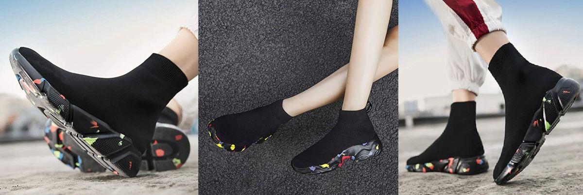 Los mejores diseños de zapatos estilo calcetín para un look deportivo y casual