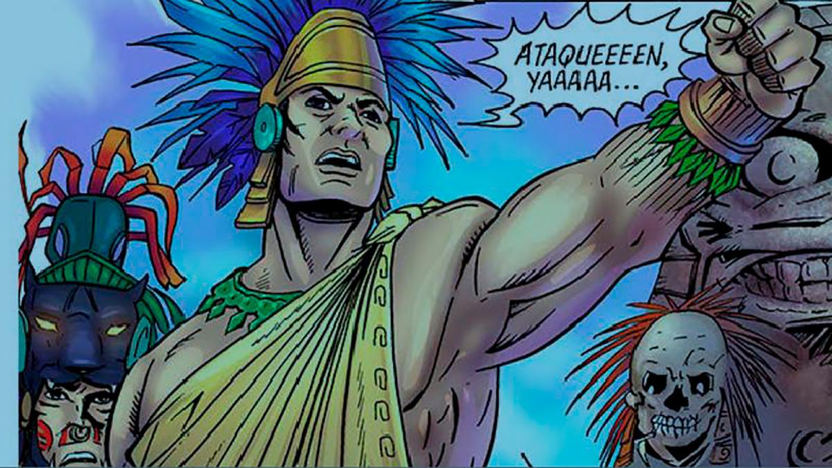 Un cómic recién publicado narra la vida de Cuitláhuac.