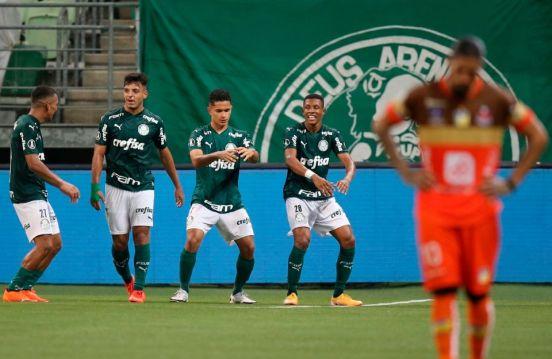 Delfín cayó 5-0 ante Palmeiras.