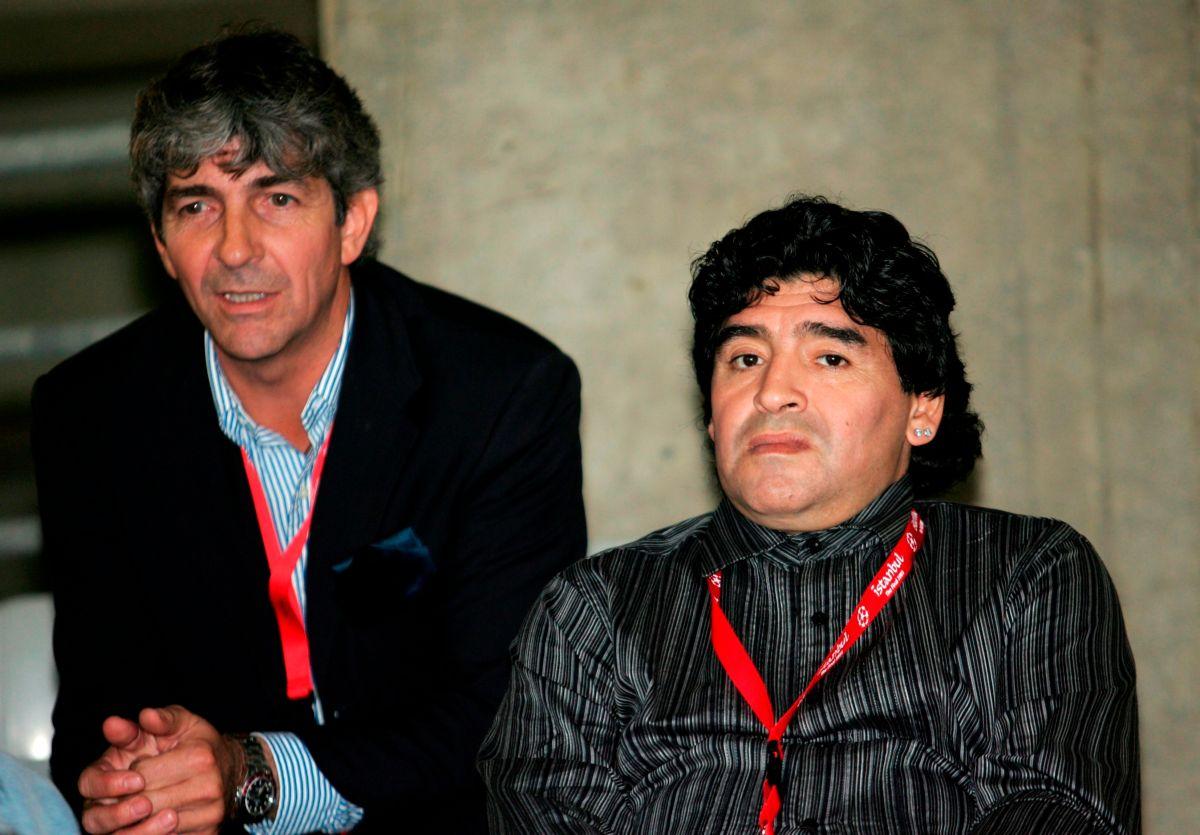 Paolo Rossi y Diego Maradona en 2005. El italiano murió hoy.