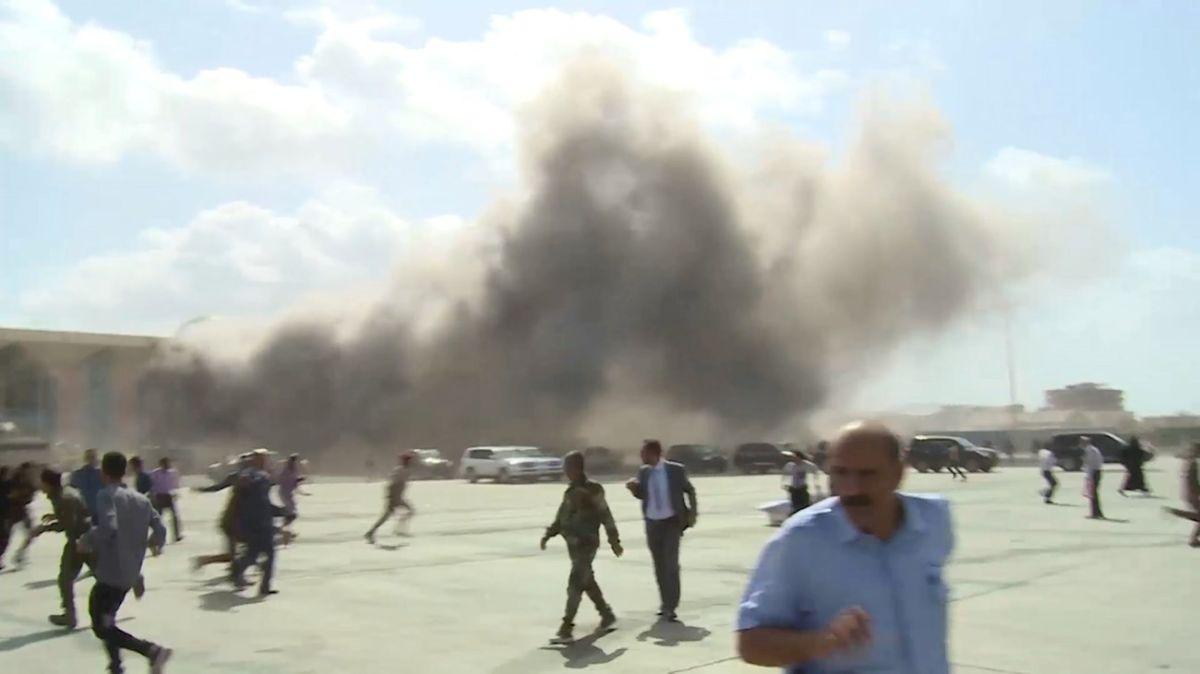 VIDEO: Momento exacto del ataque terrorista en aeropuerto de Yemen