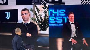 La cara de Cristiano Ronaldo, como si le hubieran robado el The Best