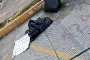 Fotos: Unión Tepito amenaza al CJNG y otros cárteles con descuartizado y narcomensaje