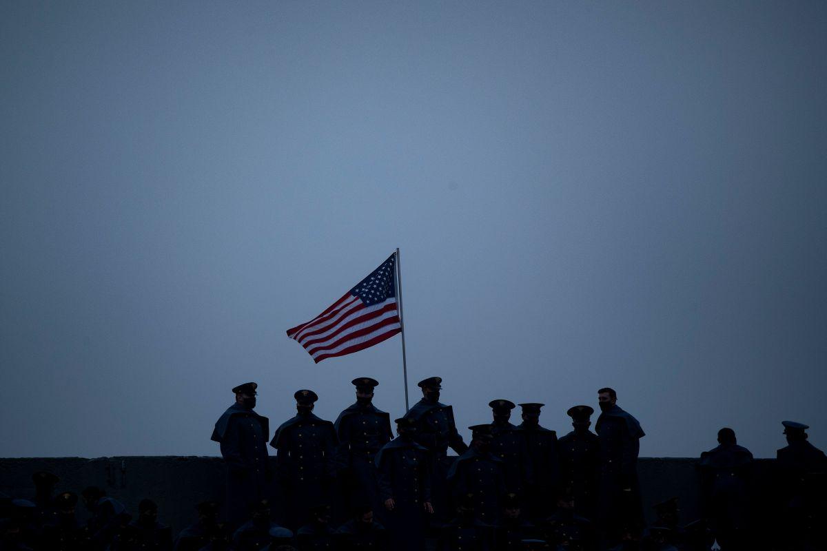 La bandera de EE.UU. en West Point el pasado 12 de diciembre.