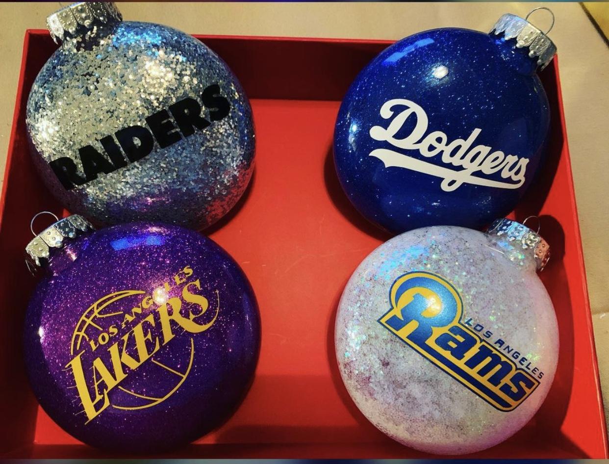 Dodgers y Lakers en el árbol para esta Navidad