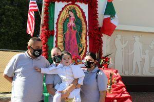 Honran a la Virgen de Guadalupe y San Juan Diego en la Misión de San Gabriel