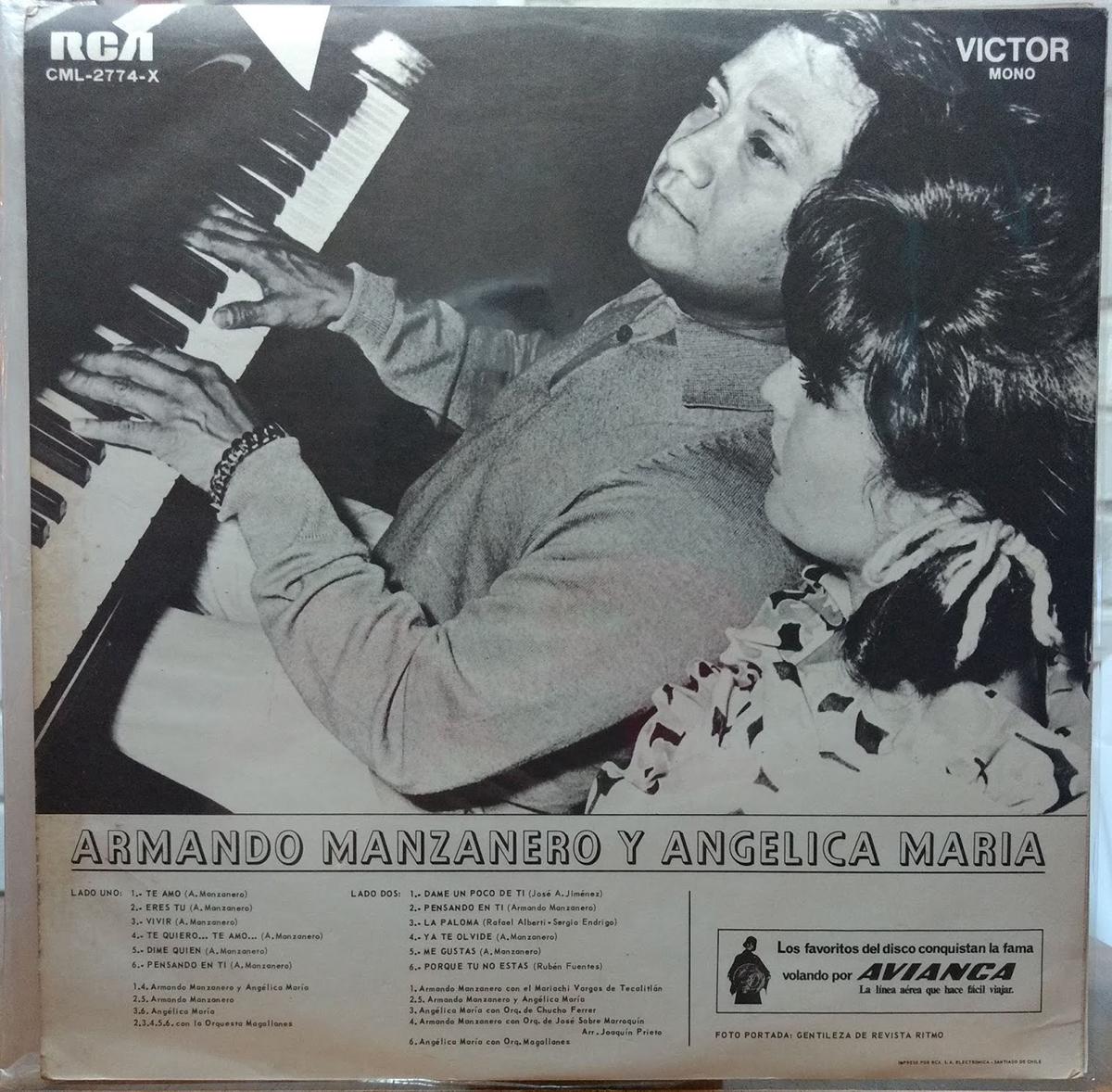 Angélica María with Armando Manzanero