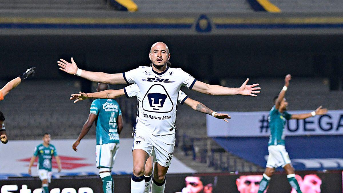 Los sorprendentes Pumas dan un gran partido, pero León salva el empate 1-1
