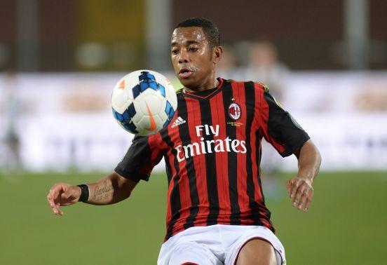 Robinho durante su época con el AC Milan.