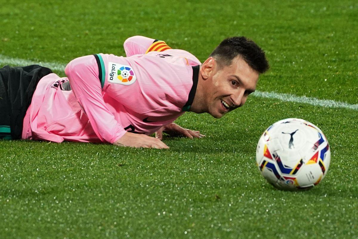 Messi el día que rompió el récord de Pelé.