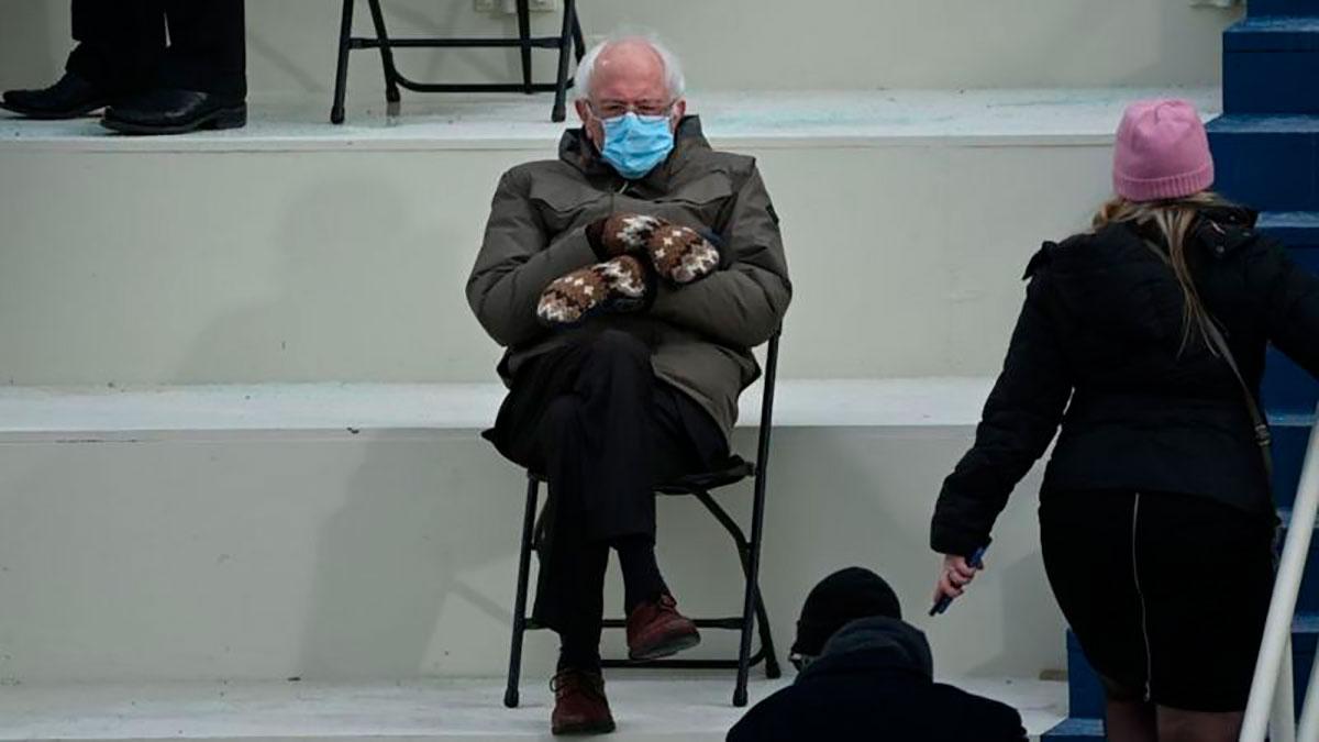 Biden presidente: los guantes de Bernie Sanders y otros momentos notables de la investidura