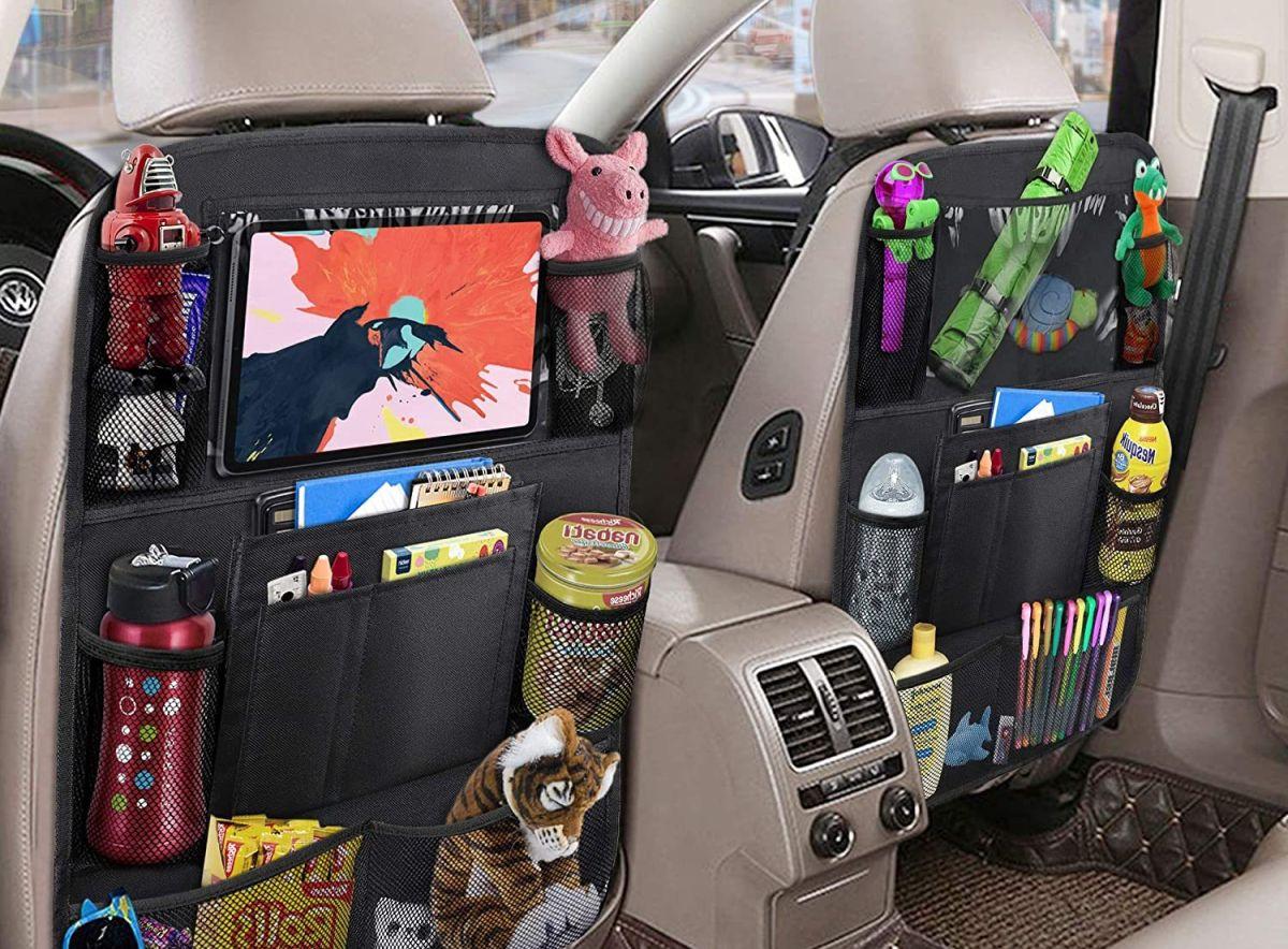 5 organizadores para los asientos de tu auto ideales para tus viajes familiares