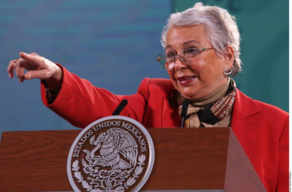 AMLO se encuentra en confinamiento en Palacio Nacional fuerte y muy optimista, asegura Olga Sánchez Cordero