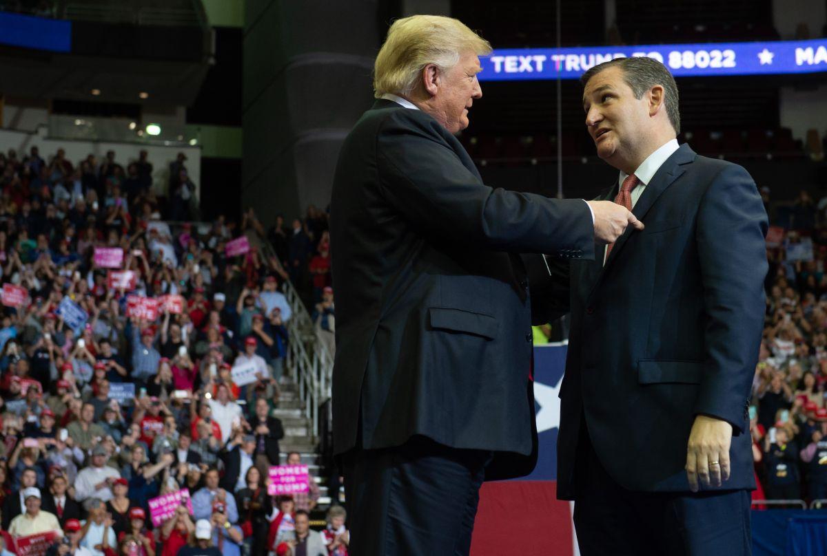 Trump y Ted Cruz.