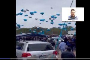 VIDEO: Así fue el sepelio del Azulito, hijo del Azul, socio del Chapo Guzmán