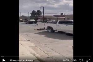 VIDEO: Tiroteo en donde sicarios del narco mataron a 3 policías y una mujer