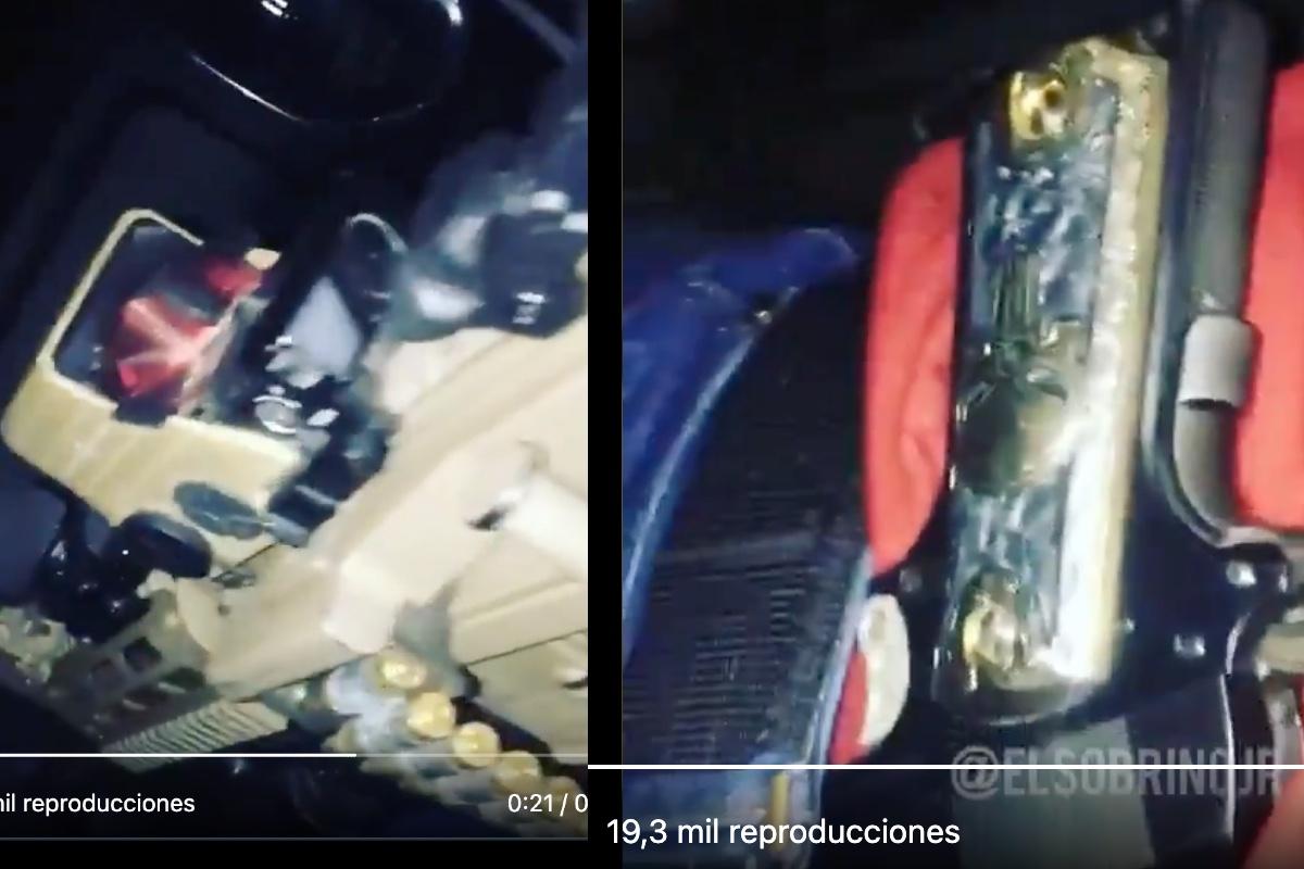 VIDEO: Con narcocorrido y pistola bañada en oro, sicario del narco patrulla territorio de Caro Quintero