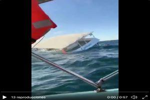 VIDEO: Momento exacto en que embarcación de turistas se hunde en México