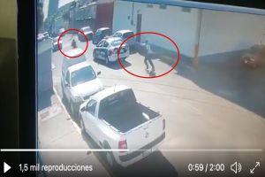 VIDEO: Momento exacto en que ladrones matan a policías tras frustrar asalto