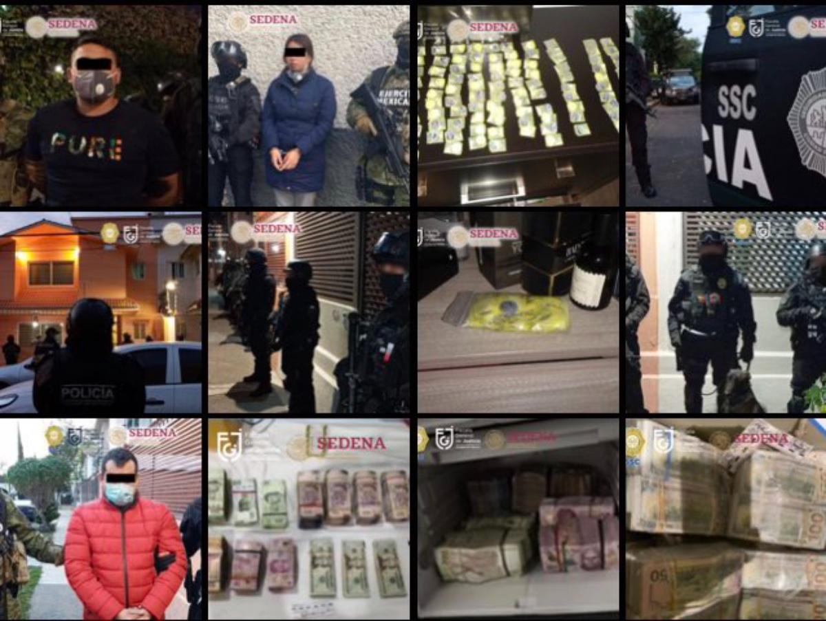 VIDEO: Mujer y dos hombres caen con decenas de dosis de drogas y fuerte suma de dinero