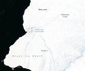¿Será este año cuando se desprenda un gigantesco iceberg del doble de Nueva York?