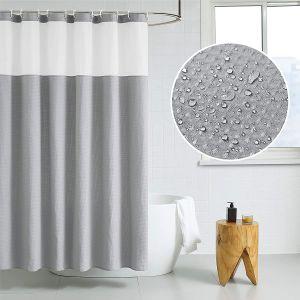 cortinas para baño de tela elegante