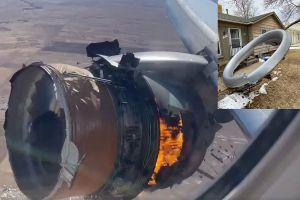 VIDEO: Las imágenes del aterrador momento del avión de United Airlines por falla en uno de sus motores