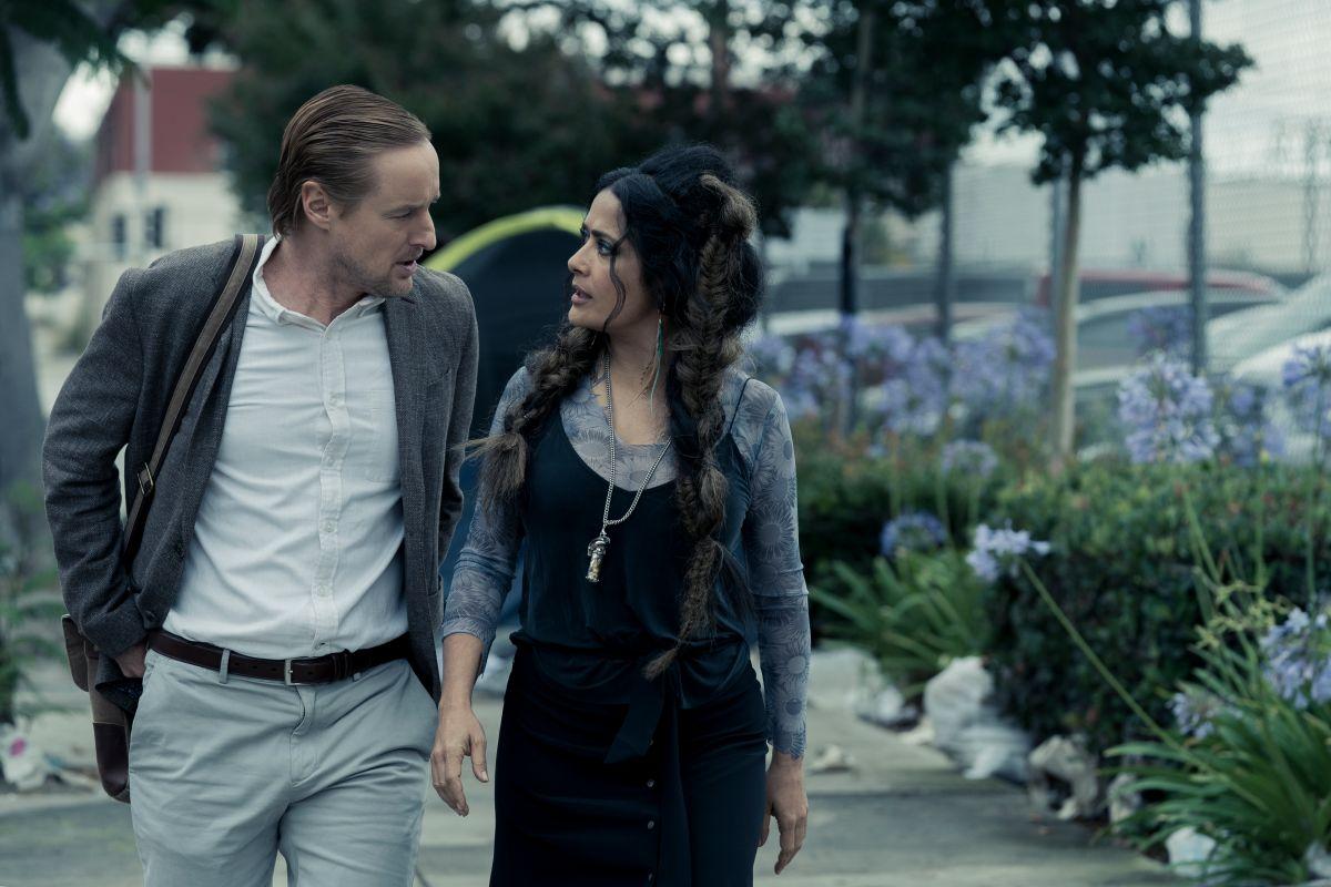 Owen Wilson y Salma Hayek en Bliss.