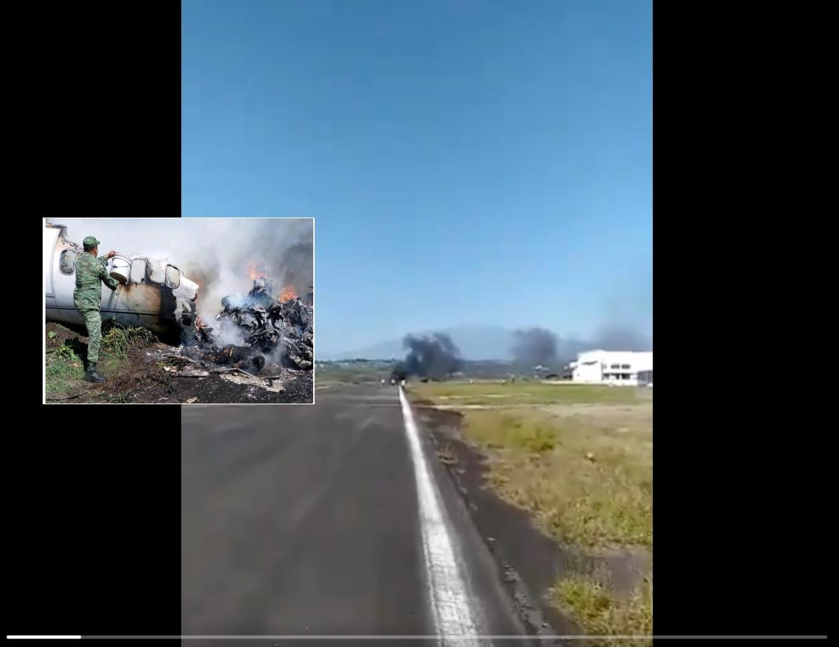 Accidente aéreo en México.