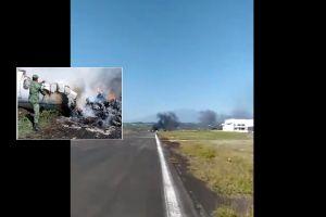 FOTOS: Se desploma aeronave del Ejército mexicano