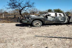 FOTO: Así hallaron 4 sicarios calcinados cerca de la frontera